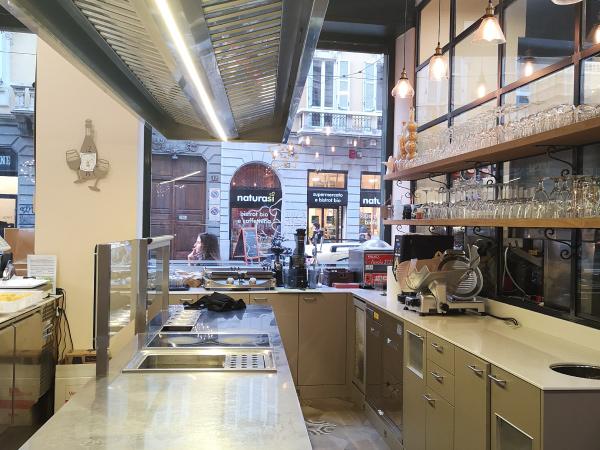 progettazione cucina a vista per il ristorante pasta d'autore