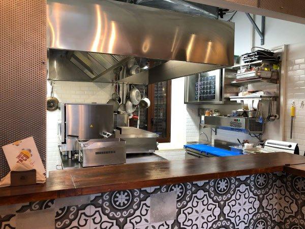 progettazione cucina per ristorante santo taco a milano